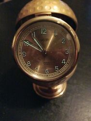 Welby Golf Ball Clock Vintage Germany Gold Working Glow In The Dark Ce2