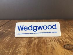Rare Wedgwood Point Of Sale Advertising Display Plaque Retail Antiques Fair Shop