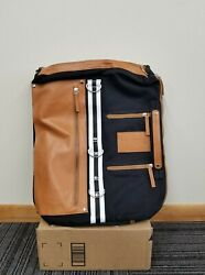 NEW: Fashion Black Brown Messenger Backpack up to 17quot; Laptop D rings $19.99