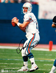 Dan Marino-miami Dolphins-autographed 8x10 Picture-football Hall Of Fame