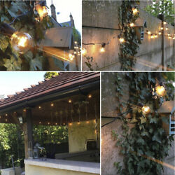 25Ft 50Ft 100Ft Clear Bulbs G40 Globe Patio Hanging String Lights Party Fairy