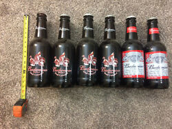 Vintage Budweiser Official Beer Of Quail Unlimited Glass Empty Bottle Collection