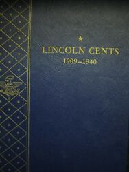 1909-1940 Lincoln Wheat Penny 1c Cent Collection Book Set Album Near Complete