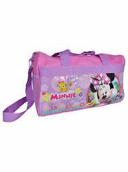 Minnie Mouse Duffel Bag 17quot; Carry On Travel for Children Kids Pink $16.99