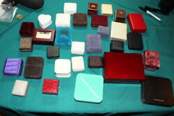 6468,huge Collection Vintage Empty Jewelry Cases,rings,necklaces,etc