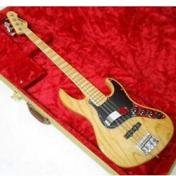 Used Edwards By Esp Amaze Model Jazz Bass E-am-135as/m Natural Seymour Duncan