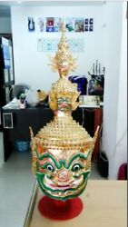 Ravana of the Ramayana Thai traditional Art Handmade Mask New For Head Wear