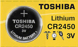 Brand New Toshiba CR2450 CR 2450 3 Volt Lithium Coin Battery Free Shipping