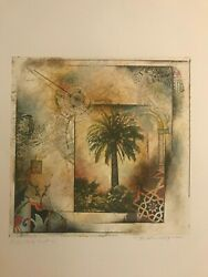 Palm Study North 54 Signed Mixed Media Limited Edition Anldge