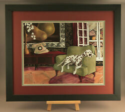 Wonderful Susan Webster Signed Lithograph Art Print ,lucky Dog Whimsical