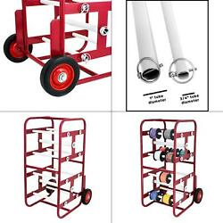 Transportable Multiple Axel Wire Reel Caddy   Cable Axle Adirpro Steel Holder