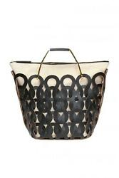 Nw Marni Leather Shopping Bag Bmmpz15l01 Black Leather Tricot Bag