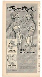 Women Drawings Isis Bras And Girdles Vintage 1950's 5.25 X 11.25 Magazine Ad B5
