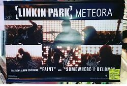 Linkin Park Meteora Autographed Signed Chester Bennington 2-Sided Banner 36x25