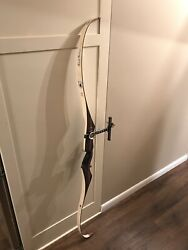 Signed By Fred Bear Victor Patriot With Fascor Recurve Bow Rh 23 61 1/4andrdquo Long