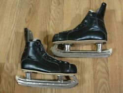 Vintage Riedell Youth Hockey Speed Skates Sz 1 1/2 Model 35 Red Wing Mn