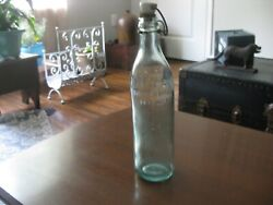 Rare Find Hires Root Beer Bottle Bale Wire W/ Porcelain Stopper Wavy Glass