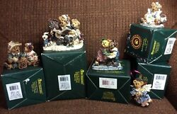 Boyd#x27;s Bearstones Resin Figurines lot of five 5 includes one limited edition