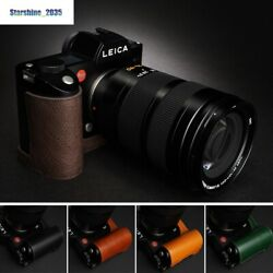 Fit For Leica Sl Typ601 Half Case Handmade Leather Camera Bags Protective Cover