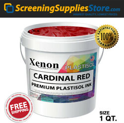 Xenon - Cardinal Red Plastisol Ink For Screen Printing - 1 Quart - 32oz