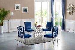 Opal Collection Glass Top Dining Set, Total Of 5 Pieces. Available In 2 Colors