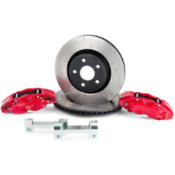 Alcon For 07+ Jeep Jk 350x32mm Rotors 4-piston Red Calipers Front Brake Upgrade