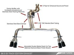 Awe Tuning For Audi B8.5 S5 3.0t Track Edition Exhaust - Chrome Silver Tips 102