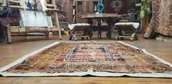 Pre-1900s Antique Wool Pile Natural Dye Yahyali Prayer Rug 3and0398and039and039x5and0392and039and039