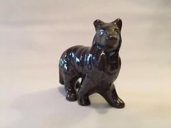 Vintage Ceramic Black  Collie Dog Figurine