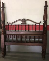 Antique 1800's St. Croix Virigin Islands Mahogany Four Poster Queen Bed