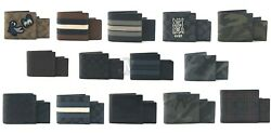 Coach Mens 3 In 1 Coated Canvas & Leather Bifold Id Wallet With Gift Box