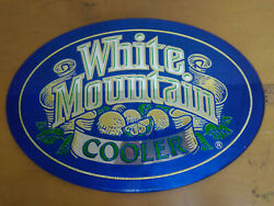 White Mountain Cooler 1985 Used Bar Beer Mirror Small 11 X 16 Man Cave Sign