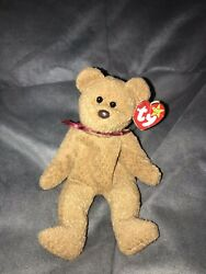 Curly Ty Rare Beanie Baby Pvc Brown Nose 1996/93 With Multiple Errors