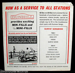 Surfin' Songbook-mega Rare Radio Station Promo Picture Sleeve-dunhill Records