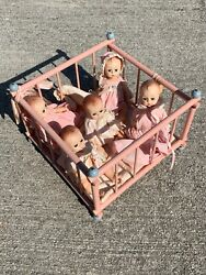 P And M Doll Crib Madame Alexander Fischer Quintuplets Doll Babies 5andrdquo Lot 6 ❤️m13