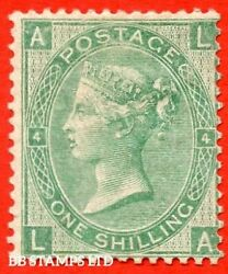 Sg. 101. J103. La . 1/- Green Plate 4. A Fine Mounted Mint Example Of B45805
