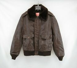 Vtg Genuine Leather New Generation By Grais Bomber Style Jacket Size 38 Vin126