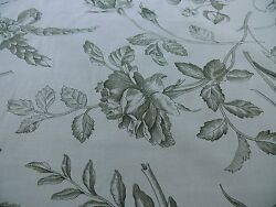 55.5y Scalamandre Hope Toile French Cntry Sage Green On Natural Msrp160/y