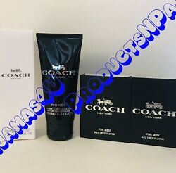 LOT of 3 Coach COACH for MEN AFTER SHAVE BALM 3.3fl.oz 100ml 2 CARDED SAMPLES $19.95