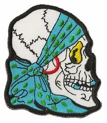 Patch Embroidered Badge Patch Pirate Skull Fusible Head Death