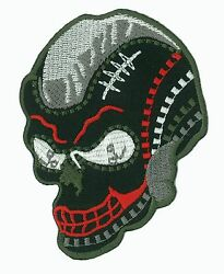 Badge Patch Skull Head Death Fusible Apply Embroidered Patch Diy