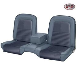 1967 Mustang Fastback Front And Rear Bench Seat Upholstery - Blue - Made By Tmi