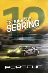 Last One 12hours Of Sebring Porsche Poster Free Shipping