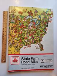 Vintage State Farm Road Atlas Map United States Canada Mexico Touring Info