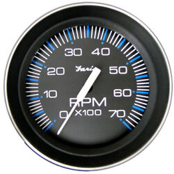 Faria 4 Tachometer 7000 Rpm All Outboard Coral W/ Stainless Bezel 33005