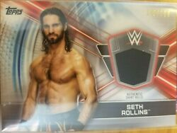2019 Topps WWE Road to Wrestlemania Seth Rollins Authentic Shirt Relic 106 199
