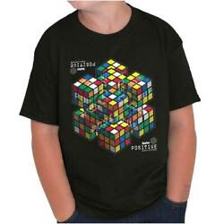 Positive Graphic Official Rubiks Cube Puzzle  Youth T-Shirt Tees Tshirt For Kids $7.99