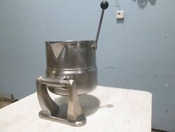 Groen Tdc-20qt Heavy Duty Commercial Direct Steam Jacketed Tilting Kettle