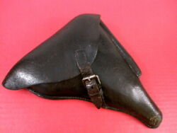 Wwii German Black Leather Holster For Luger P08 Pistol Hans Romer Waa918 1936