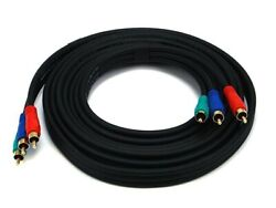 Monoprice 961 12ft 22awg 3-rca Component Video Coaxial Cable - Lot Of 42